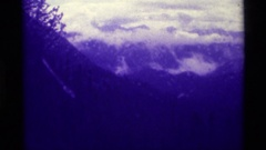 1975: dark time of the forest,feeling the thrill. AGATE SPRINGS MONTANA Stock Footage