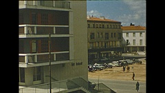 Vintage 16mm film, 1955 France, architecture, Mediterranean city #2 Stock Footage