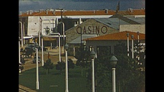 Vintage 16mm film, 1955 France, architecture, Mediterranean city Stock Footage