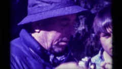 1975: a group of guys in the forest with binoculars AGATE SPRINGS MONTANA Stock Footage