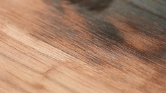 Grinding wooden surface with a metal disc brush Stock Footage