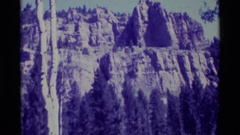 1975: hill top view from land,nature beauty awesome AGATE SPRINGS MONTANA Stock Footage
