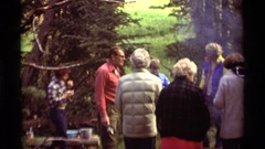 1975: a community get together in the lap wilderness to increase bonding  Stock Footage