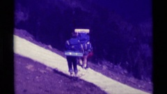 1975: work at the top of the mountain AGATE SPRINGS MONTANA Stock Footage