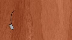 Cutting elliptical shape on wood Stock Footage
