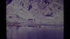 1975: snow covered highland MINARET WILDERNESS CALIFORNIA Stock Footage