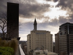 Smith tower time lapse Stock Footage