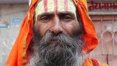 Portrait of Sadhu - Pushkar, India Stock Footage