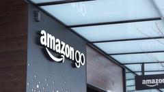 Amazon go beta storefront tilt Stock Footage