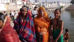 Indian Women in ceremony in Pushkar, India Stock Footage