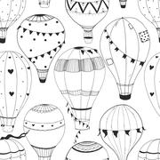 Vector air baloon pattern Stock Illustration