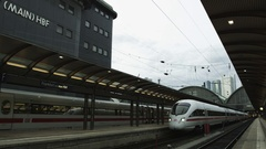 Frankfurt Main Station Stock Footage