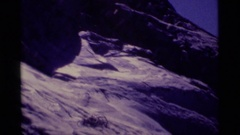 1975: a steep rocky slope in the desert at daytime MINARET WILDERNESS CALIFORNIA Stock Footage
