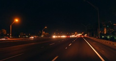Driving on the I4 at night Stock Footage