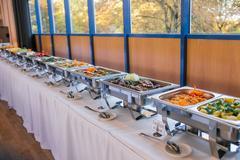 Catering food wedding buffet Stock Photos
