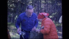 1973: camping out roasting marshmellows SCAPEGOAT WILDERNESS MONTANA Stock Footage