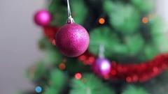 Pink Christmas ball Stock Footage