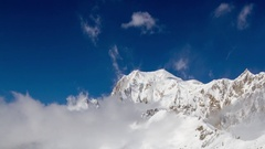 Courmayeur alps  italy mountains snow peaks ski Stock Footage