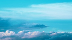 The bright blue summer sky with quickly floating clouds. Stock Footage
