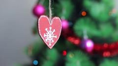 Red Christmas tree decor Stock Footage