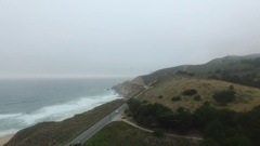 4K Aerial Drone Coast Highway Stock Footage