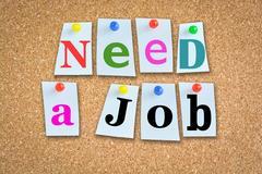 Need a job billboard or display panel Stock Photos