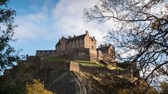 Edinburgh Castle Timelapse Stock Footage