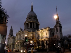 Time lapse. Night London. St Paul's Cathedral. Stock Footage