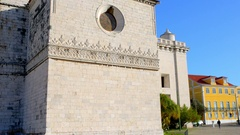 Jeronimos Monastery in Lisbon, Portugal Stock Footage