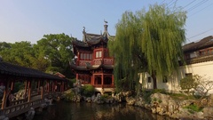 The Pavilion of Listening to Billows in Yu Garden - Shanghai, China Stock Footage