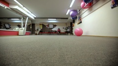 Hall fitness club for background Stock Footage
