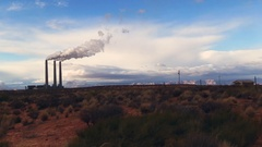 Power plant in Page, Arizona Stock Footage