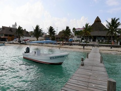 Morelos Mexico yacht boat pier to beach park DCI 4K Stock Footage