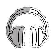 Isolated Construction earmuffs Stock Illustration