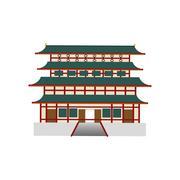 Japanese pagoda temple Stock Illustration