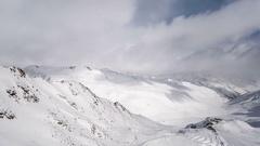 Snowy Alps Time Lapse Stock Footage