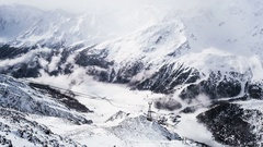 Alps Valley Time Lapse Stock Footage