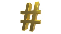 Hash tag hashtag rotate tweet twitter social media network post label pound 4k Stock Footage