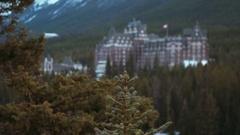 Banff Springs Hotel in Banff, Alberta, Canada Stock Footage