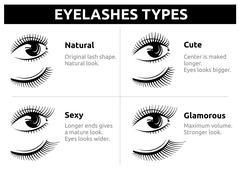 Beautiful girl eyelashes, female makeup vector Stock Illustration