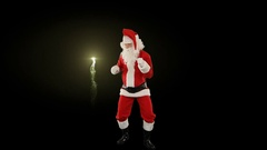 Santa Claus Dancing isolated, Dance 5, fireworks display Stock Footage