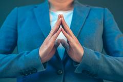 Businesswoman body language for confidence and self-esteem Kuvituskuvat