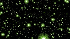 Numerous Green Glow Neon Stars Infinite Flight Motion Background Loop roll left Stock Footage