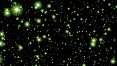 Numerous Green Glow Neon Stars Infinite Flight Motion Background Loop Stock Footage