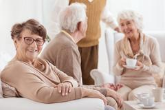 Elderly people spending time together Stock Photos