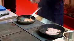 Chef cooking food. Stock Footage