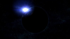 Realistic planet earth in space. Elements of this image furnished by NASA Stock Footage
