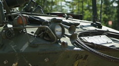 Tank front end - Canadian Military Equipment Stock Footage