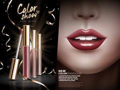 Color show lip gloss Stock Illustration