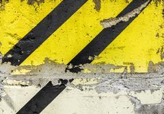 Grunge diagonal warning stripe Stock Photos